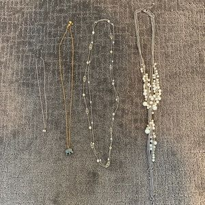 4 piece jewelry lot - all necklaces